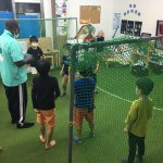 オリジナルサッカースタジアムを教室の中に作ったよ!!